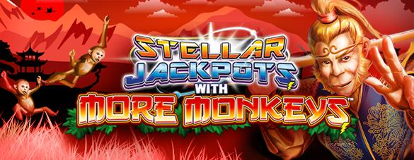 La nouvelle machine Stellar Jackpots with More Monkeys™ de Lightning Box Games n'est pas une singerie !